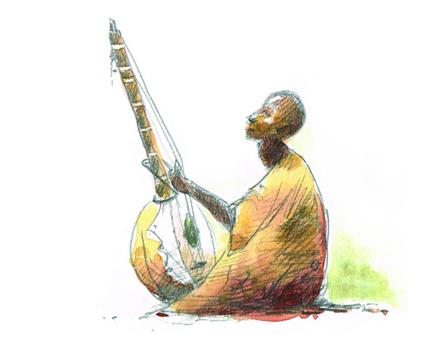 Joueur de Ngoni - Mali - 2011