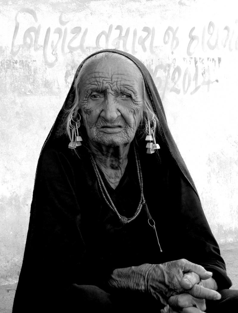 Portrait of a woman from Gujarat