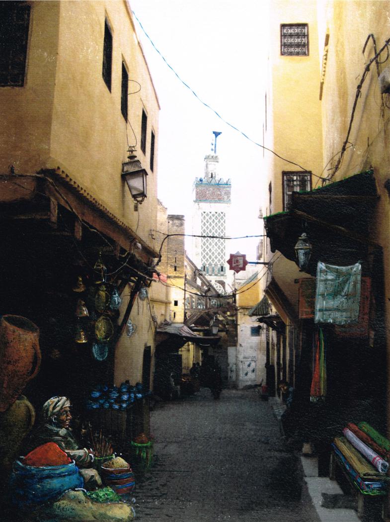 Une rue de Fes - Maros - 2010