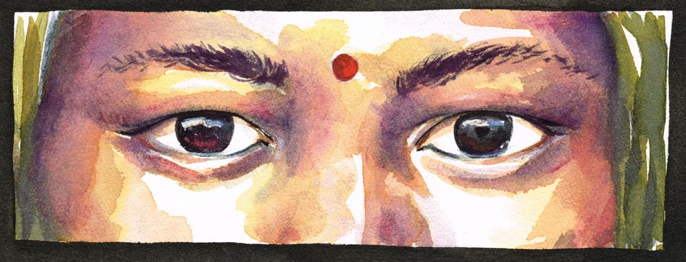 Hindu woman's face – Inde 2014