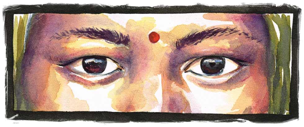 Visage de femme Hindoue