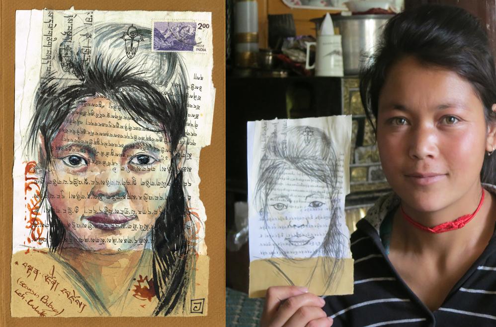 Portraits de Stanzin, à Leh