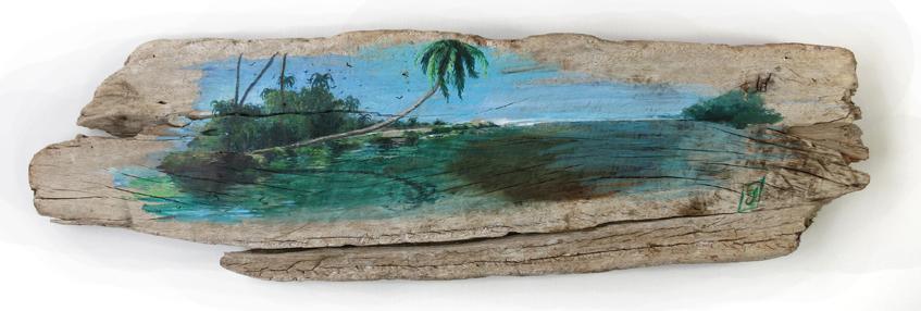 Backwaters sur une planche de bois
