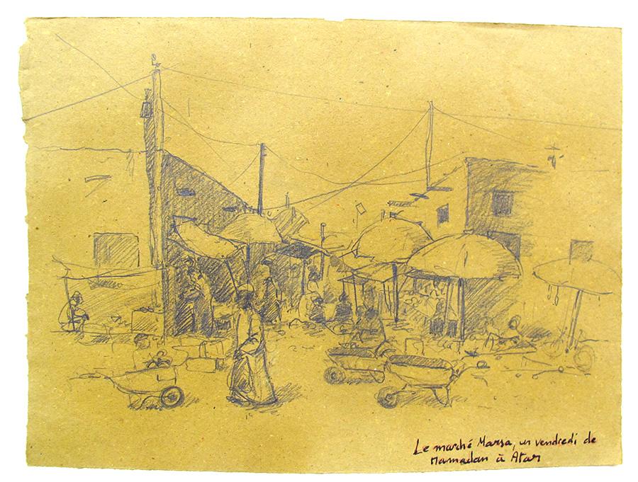 Photo d'un marché un vendredi de Ramadan